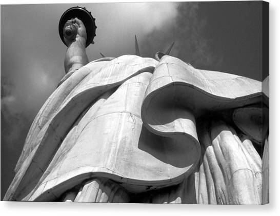 Statue Canvas Print - Liberty's Gown by Keith Marsh