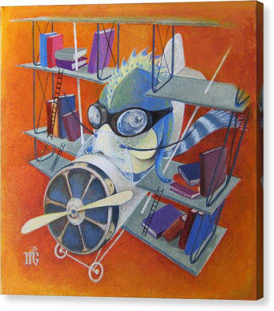 Librarian Pilot Canvas Print
