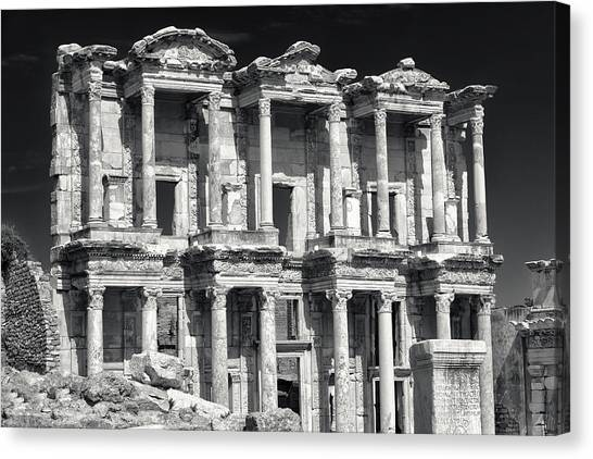 Library Of Celsus Ruins At Ephesus Canvas Print