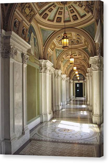 Library Of Congress Hallway Washington Dc Canvas Print
