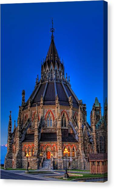 Parliament Hill Canvas Print - Library Of Parliament by Tim Wilson