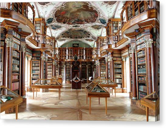 Library Of St Gall's Abbey Canvas Print by Michael Szoenyi/science Photo Library