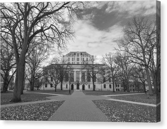 Library Ohio State University Black And White  Canvas Print