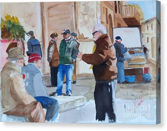 Licata Piazza Canvas Print