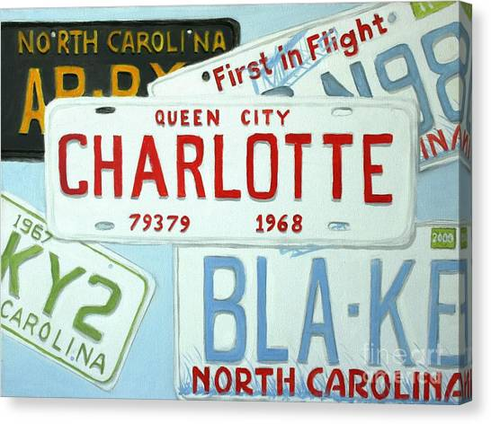 License Plates Canvas Print