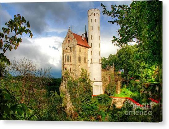Lichtenstein Castle Swabian Alb Germany Canvas Print