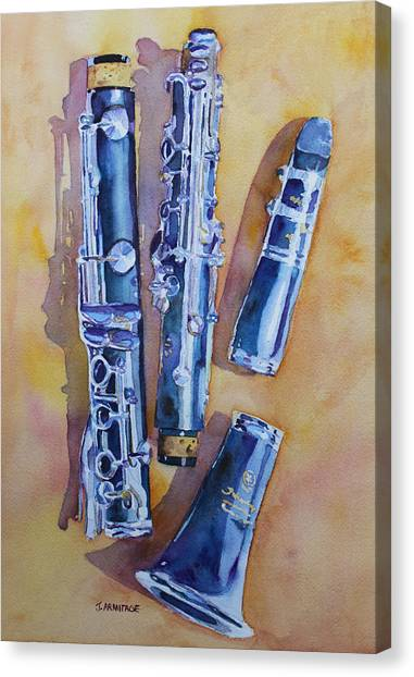 Clarinets Canvas Print - Licorice Pieces by Jenny Armitage