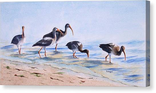 Lido Waders Canvas Print