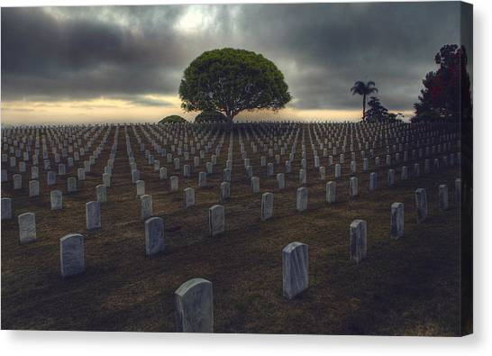 Fort Rosecrans National Cemetery Canvas Print - Life Cycles  by Kenny  Noddin