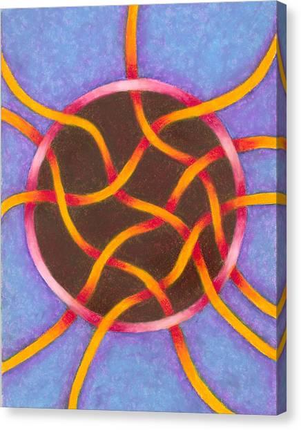Life Goes On Mandala Canvas Print