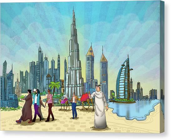 Life In Dubai Canvas Print