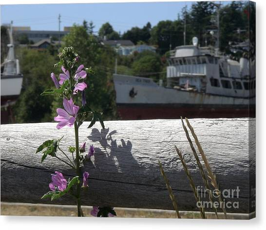 Life In The Boatyard Canvas Print