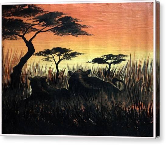 Life In The Jungle  Canvas Print by Gibu John Joshua