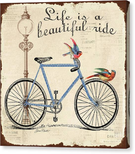 Transportation Canvas Print - Life Is A Beautiful Ride by Jean Plout