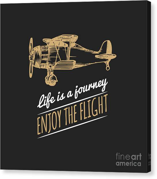 Symbols Canvas Print - Life Is A Journey, Enjoy The Flight by Vlada Young
