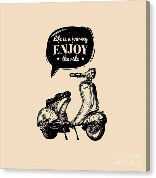 Urban Life Canvas Print - Life Is A Journey, Enjoy The Ride by Vlada Young