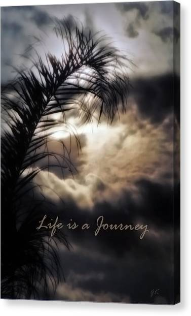 Life Is A Journey Canvas Print by Gerlinde Keating - Galleria GK Keating Associates Inc
