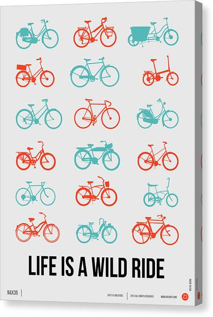 Comical Canvas Print - Life Is A Wild Ride Poster 2 by Naxart Studio