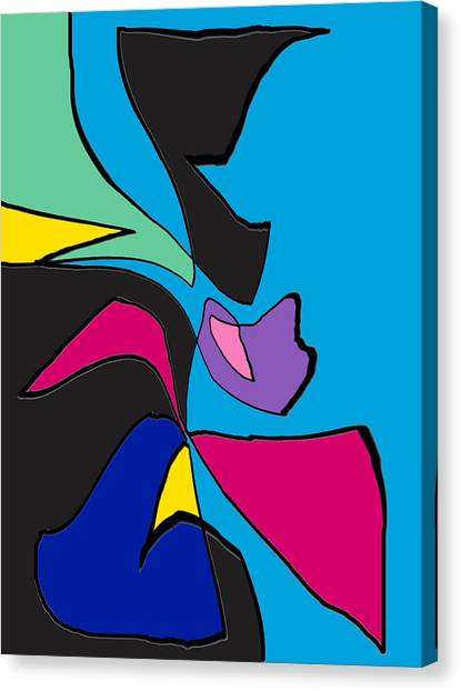 Original Abstract Art Painting Life Is Good By Rjfxx.  Canvas Print