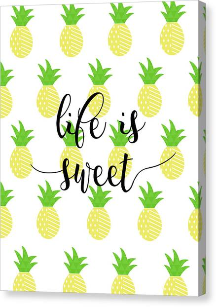 Pineapples Canvas Print - Life Is Sweet - Pineapple by Anna Quach