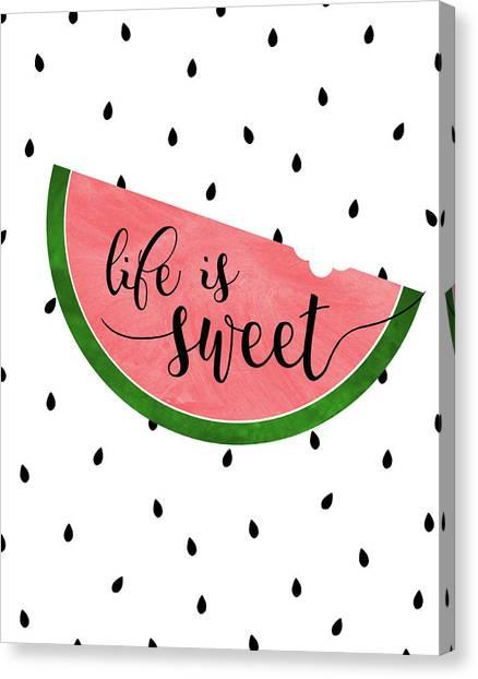 Watermelons Canvas Print - Life Is Sweet - Watermelon by Anna Quach