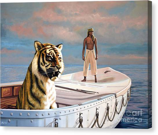 Hinduism Canvas Print - Life Of Pi by Paul Meijering