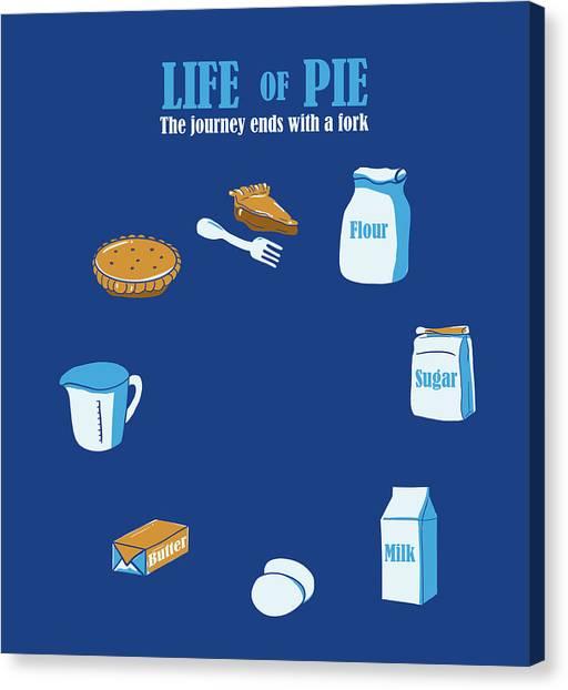 Ingredient Canvas Print - Life Of Pie by Neelanjana  Bandyopadhyay