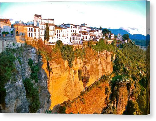 Canvas Print featuring the photograph Life On The Edge by HweeYen Ong