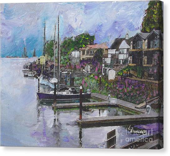Alameda Life On The Estuary Canvas Print
