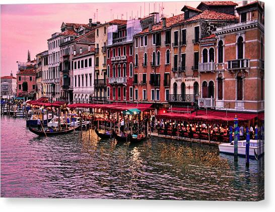 Life On The Grand Canal Canvas Print