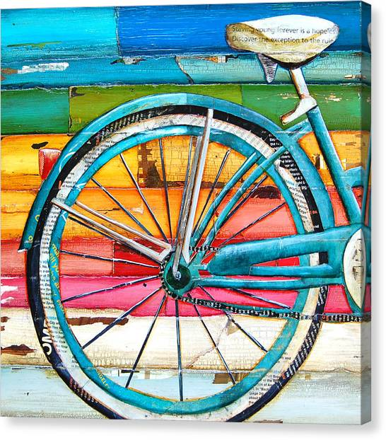 Bicycle Canvas Print - Lifecycles by Danny Phillips