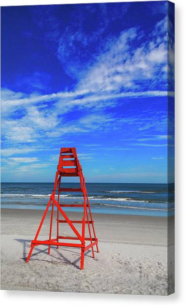 Lifeguard Station, Jacksonville  Beach Canvas Print