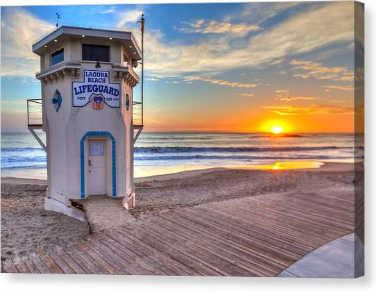 Lifeguard Canvas Print - Lifeguard Tower On Main Beach by Cliff Wassmann