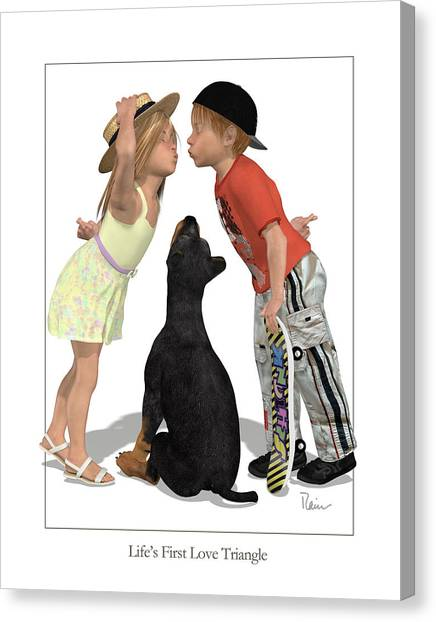 Life's First Love Triangle Canvas Print