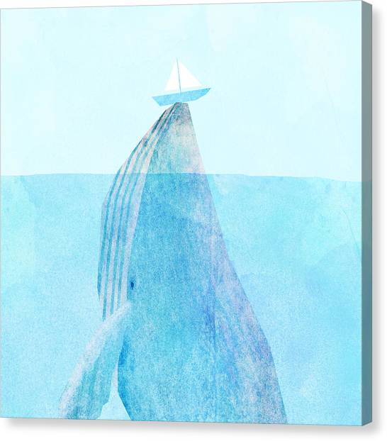 Blue Whales Canvas Print - Lift by Eric Fan