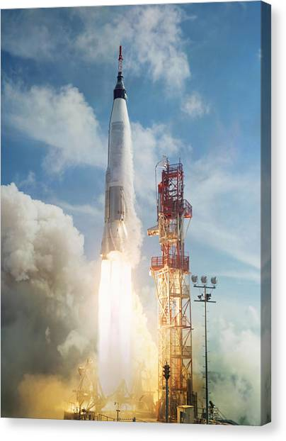Mercury Canvas Print - Lift Off by Peter Chilelli