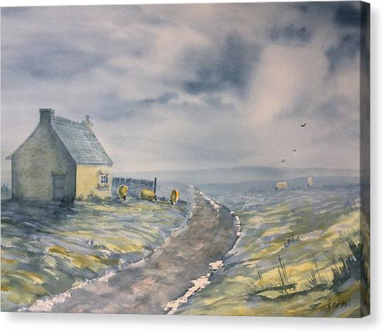 Lifting Mist At Trough House In Glaisdale Canvas Print