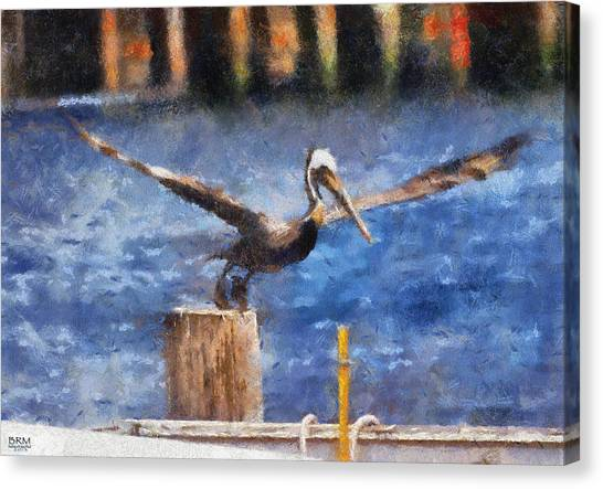 Lifting Off Canvas Print