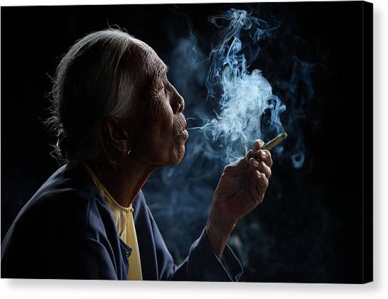 Old Age Canvas Print - Light & Smoke by