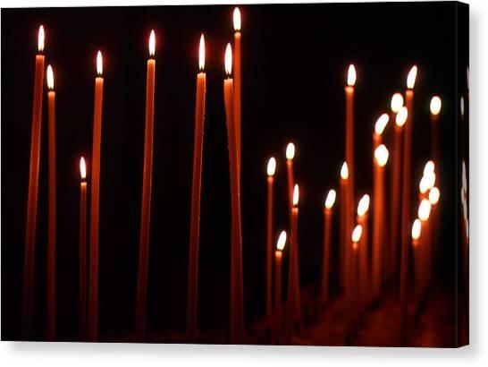 Light A Candle Say A Prayer Canvas Print