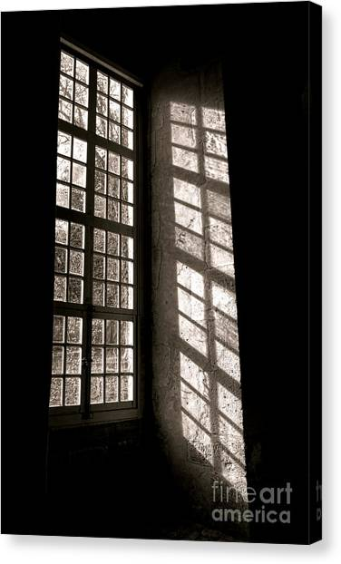 Window Canvas Print - Light And Shadows by Olivier Le Queinec
