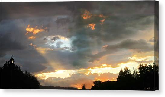 Light At Sunset Canvas Print by Ric Soulen