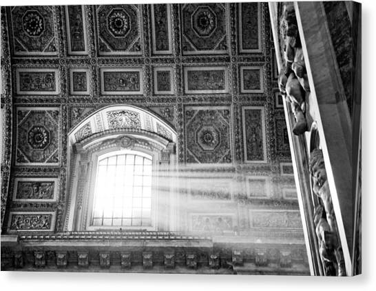 Light Beams In St. Peter's Basillica Canvas Print