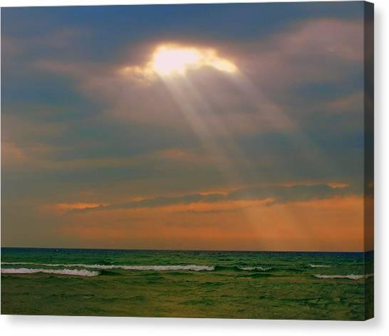 Light Breaking Through Canvas Print