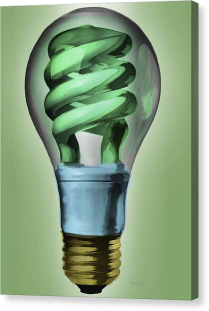 Clean Energy Canvas Print - Light Bulb by Bob Orsillo