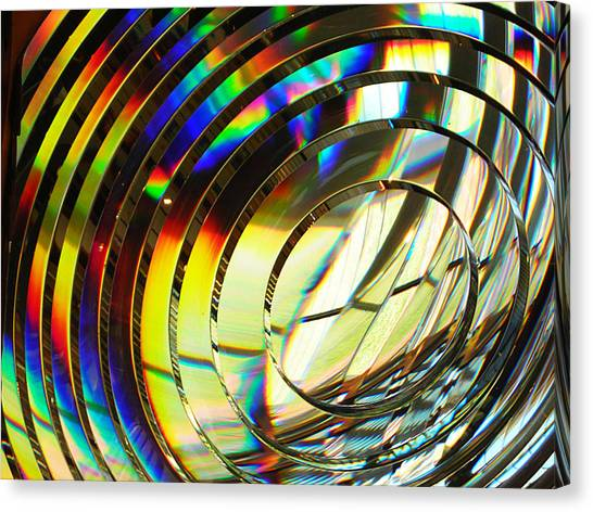 Light Color 1 Prism Rainbow Glass Abstract By Jan Marvin Studios Canvas Print