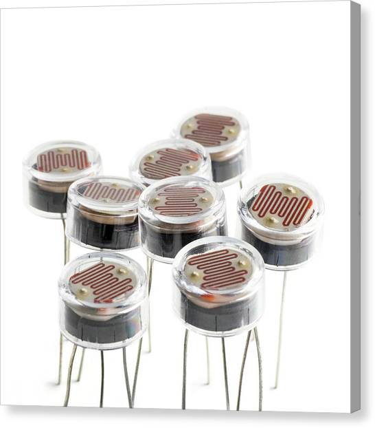 Electronic Instruments Canvas Print - Light Dependent Resistors by Science Photo Library