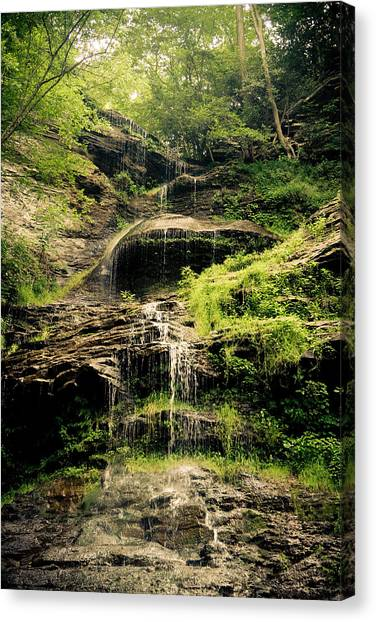 light flow at Cathedral Falls Canvas Print