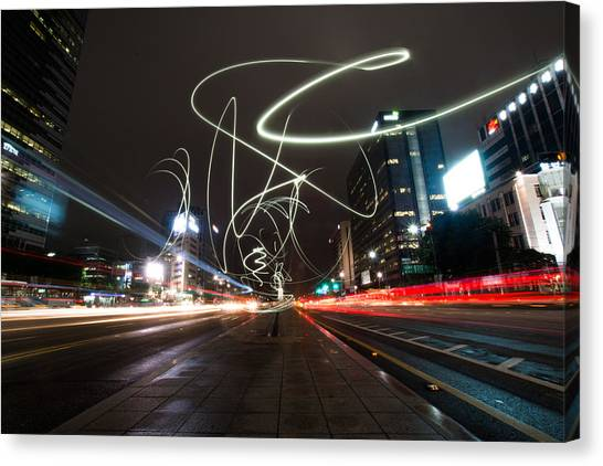 Light In Seoul Canvas Print by Yoo Seok Lee