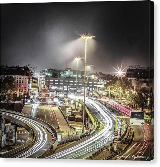 Canvas Print featuring the photograph Light Moves by Stwayne Keubrick